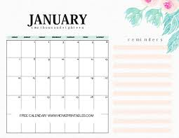 january 2018 calendar free calendar january 2018 10 free amazing prints home printables