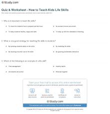 quiz worksheet how to teach kids life skills com print teaching life skills to children worksheet