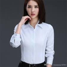 Female Office Shirt Designs 2017 Autumn New Office Women Shirts Blouses Elegant Ladies Blouse Long Sleeve Womens Tops Chemise Femme