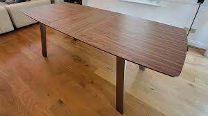 extending trendy walnut dining table and chairs brushed metal legs with solid ideas 16