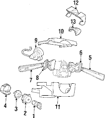 parts com® volvo s70 steering column assembly oem parts diagrams 1998 volvo s70 t5 l5 2 3 liter gas steering column assembly