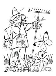 free printable scarecrow coloring pages nuter prin