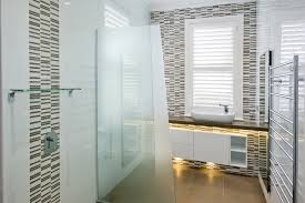 Neutral Bathroom Tile Ideas For Small Spaces With Funky Light Under