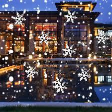 Landscape Projector Lights Thrisdar Outdoor Full Sky Snowflake Christmas Laser Projector Light Waterproof Landscape Snowflakes Laser Shower Led Spotlight Newday Mk