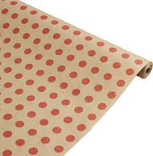 <b>Бумага упаковочная</b> Горох, красный, <b>0</b>,<b>7</b> х <b>10 м</b> — купить в ...