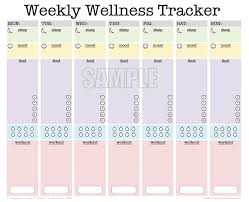 workout and food journal weekly wellness tracker editable workout planner sleep
