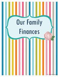 Family Finances Budget Binder Cover Free Printable Binder
