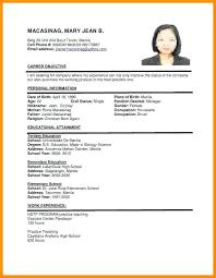 Simple Resume Format Doc Custom Sample Resume Format Doc Of A Login Curriculum Vitae Breathelightco