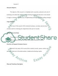 role of technology in education research proposal role of technology in education essay example