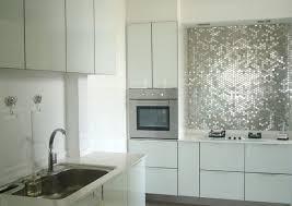 kitchen backsplash stainless steel tiles: view in gallery kitchen with penny stainless steel tile
