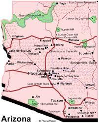 arizona travel guide planetware Travel Map Of Arizona arizona travel guide travel map of arizona and utah