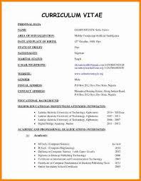 Curriculum Vitae Template Adorable Format For Curriculum Vitae Sample Kubreeuforicco