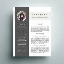 Creative Resume Template Modern Cv Word Cover Letter Templates