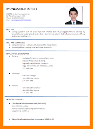 Formal Resume Template Cool Formal Curriculum Vitae Format 48 Junio Relitetri