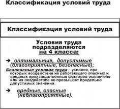 УСЛОВИЯ ТРУДА это что такое УСЛОВИЯ ТРУДА определение  КЛАССИФИКАЦИЯ УСЛОВИЙ ТРУДА