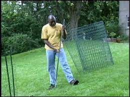 how to install garden fencing you