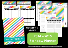 Daily Planners 2015 2020 My 2015 Printable Rainbow Daily Planner All About Planners