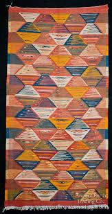 colorful runner zanafi tribal reversible wool flatweave throw rug carpet moroccan carpets rugs textiles home decor