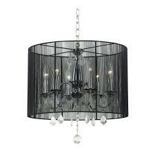 rectangular drum shade chandelier lighting with crystals lamp