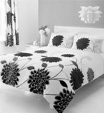 details about new white flower print double duvet quilt cover bed set