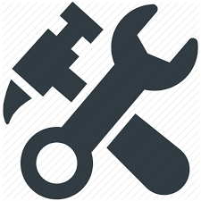 tools icon. construction tool, hammer, hammer and wrench, repair wrench tool icon tools