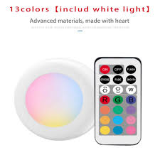 6 Pack Under Cabinet <b>Night Lights Wireless</b> LED Puck Light RGB 12 ...