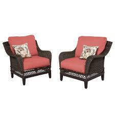 home depot patio furniture cushions. hampton bay woodbury patio lounge chair with chili cushion 2packdy9127lr the home depot furniture cushions s