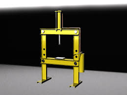manual hydraulic press step iges 3d cad model grabcad