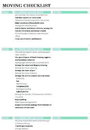 Free Office Move Checklist Template Excel Home Moving Templates