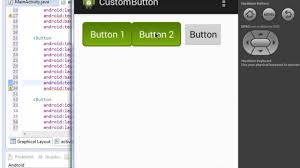 How To Design A Button In Android Custom Button Android Youtube