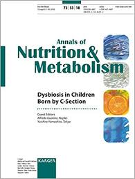 dysbiosis in children born by c section annals of nutrition and metabolism 2018 1st edition