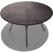 round wicker patio dining table