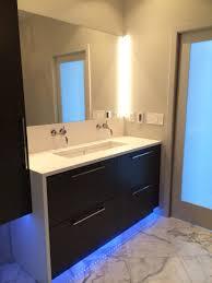 Bathroom Ideas Led Bathroom Lighting Vanity With Frameless Mirror - Led bathroom vanity