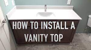 How To Install A Vanity Top Onyx Sink Top Youtube