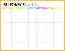 Free Printable Bill Payment Schedule Bills To Pay Template Justintr Me