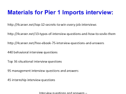 pier 1 imports careers. 9. Materials For Pier 1 Imports Careers