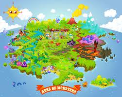 Moshi Monsters Map