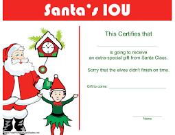 Free Printable Iou Forms Christmas Iou Certificate 300x232 Christmas Iou Printable