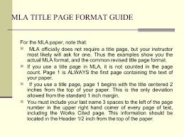 mla mla title page