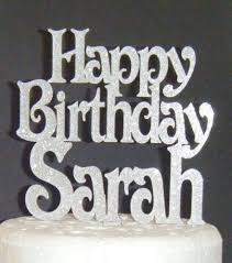 Happy Birthday And Nameage Topper Custom Made 2 Vic