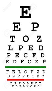Alphabet Eye Chart Eyesight Test Chart Isolated On White Background