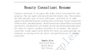 resume samples beauty consultant resume beauty consultant resume