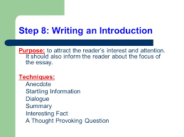 writing a compare and contrast essay in text citations  step 8 writing an introduction purpose to attract the reader s interest and attention