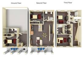 Stunning Design 4 Bedroom 2 Storey House Floor Plans 15 Double 4 Bedroom Townhouse Floor Plans
