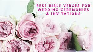 best verses for wedding ceremonies wedding invitations