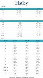 Hatley Size Chart Baby Clothes Size Chart Baby Clothing