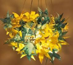 bottle flower chandelier