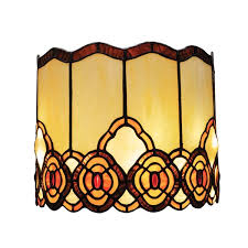 battery operated wall sconce in tiffany style art glass touch of elegance