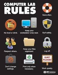 Computer Lab Rules Business Education Publishing Posters