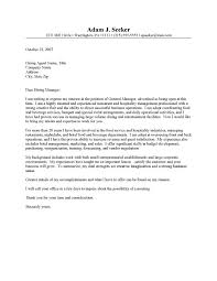 Resume Cover Letter Samples For Restaurant Managers Adriangatton Com